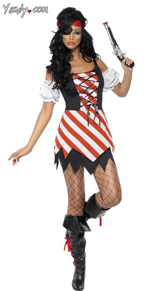 Fever Pirate Costume, first mate pirate costume, full pirate costume