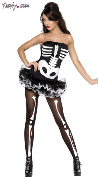Fever Skeleton Tutu Dress