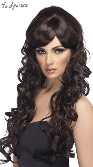 Brown Long Curly Starlet Wig