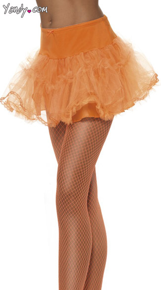 Orange Petticoat With Tulle