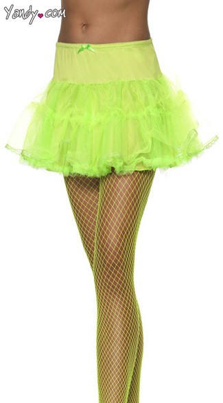 Green Petticoat With Tulle