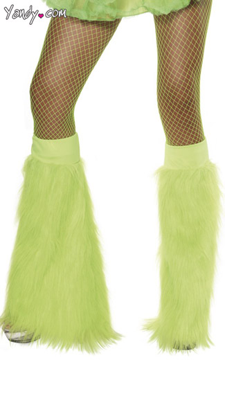 Neon Green Furry Bootcovers