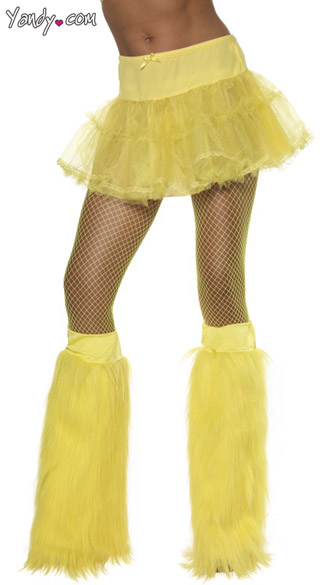 Neon Yellow Furry Bootcovers