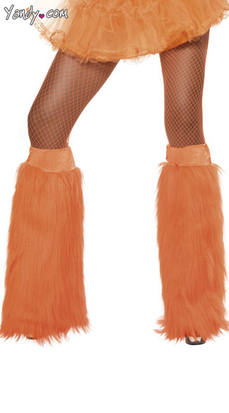 Neon Orange Furry Bootcovers