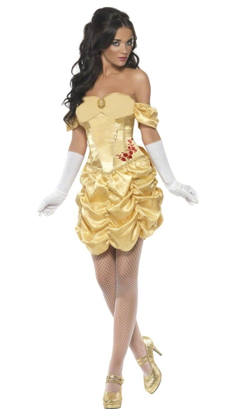 Adult Belle Costume, Adult Belle Halloween Costume, Sexy Adult Belle Costume