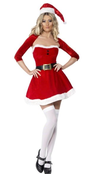 Santa Babe Costume, Sexy Santa Dress, Mrs Claus Outfit