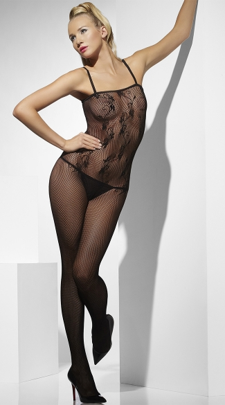 Scroll Net Bodystocking