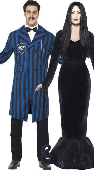 Evil Manor Couples Costume, Scary Couples Costume, Couples Movie Costumes