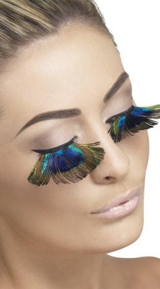 Fever Peacock Eyelashes, Peacock Feather Eyelashes, Peacock Feather Accessories, Peacock Costume Accessories