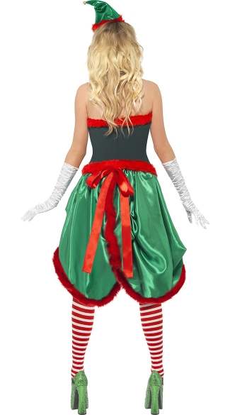 Naughty Burlesque Elf Costume