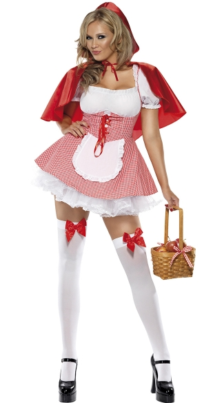 Little Miss Riding Hood Costume, Little Red Costume, Womens Riding Hood Costume