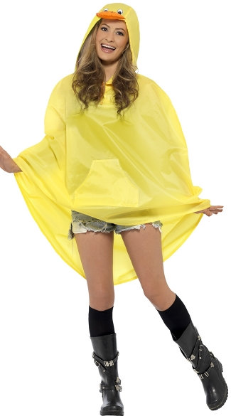 Duck Party Poncho Costume, Duck Costume, Bird Costume