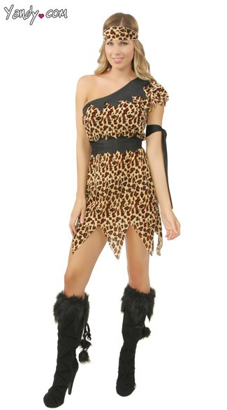 Cute Lady Cavewoman Costume, Cute Cave Woman Costume, Wild Woman Adult Costumes
