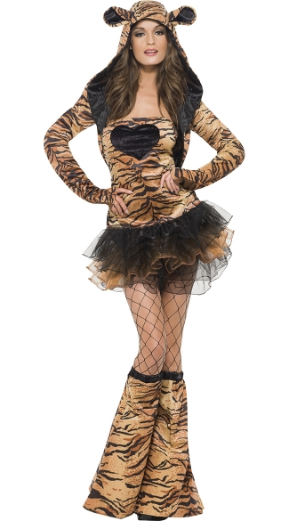 Sexy Hooded Tiger Costume