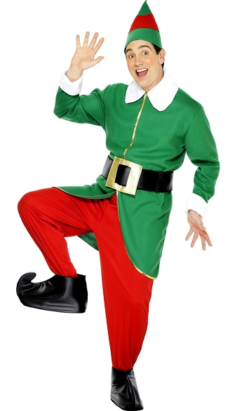Mens Santas Helper Costume, Mens Elf Costume, Mens Santas Elf Costume