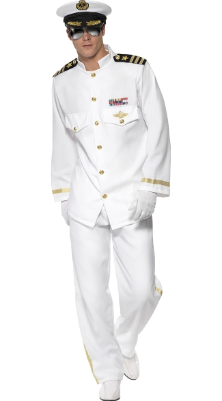 Men\'s Rock Her Boat Captian Costume, Mens Sailor Costume