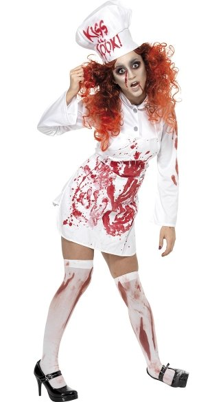 Bloody Chef Zombie Costume