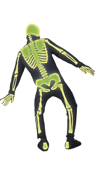 Men\'s Glow in the Dark Graveyard Skeleton Costume