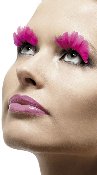 Neon Pink Feather Lashes
