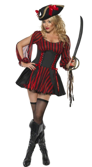 Buccaneer Beauty Costume, Sexy Pirate Dress for Women, Sexy Pirate Costume for Women