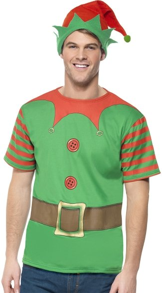 Men\'s Instant Elf Costume Kit
