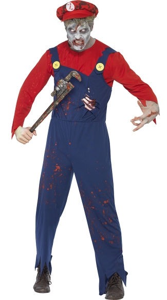 Zombie Neighborhood Plumber Costume, Zombie Costume Ideas, Mens Halloween Costumes