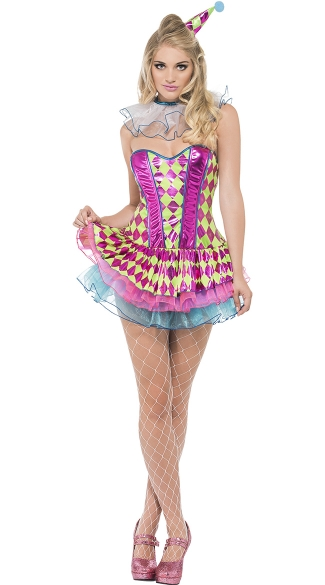 Sassy Party Clown Costume