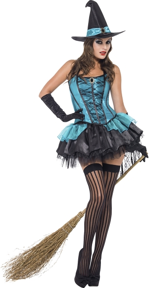 Midnight Hour Witch Costume, Blue Witch Costume
