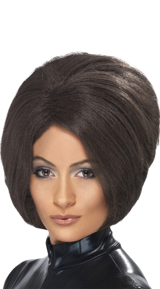 Posh Power Bob Wig, Pop Star Costume Accessories, Short Bob Wigs