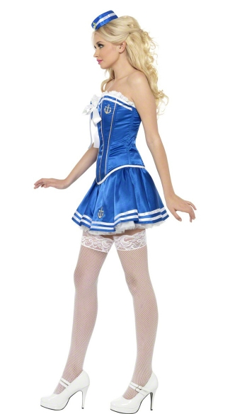 Blue and White Sailor Costume