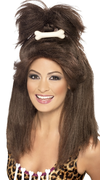 Crazy Cavewoman Wig, Long Brown Wig, Cavewoman Wig