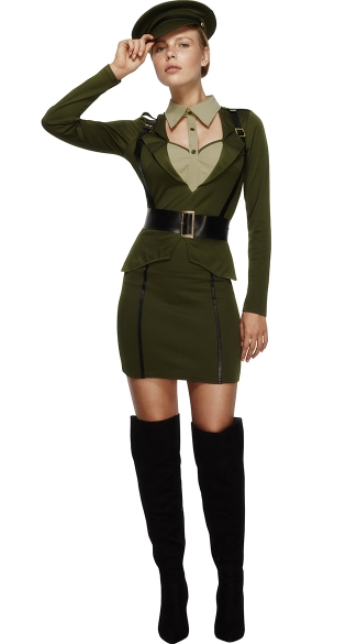 Sexy Military Captain Costume, Sexy Military Costume, Sexy General Costume