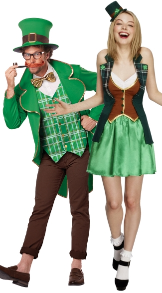 Luck of the Irish Couples Costume, St. Patrick Sweetie Costume, Leprechaun Costume, St. Patrick\'s Day Costume, Men\'s Lucky Leprechaun Costume, Leprechaun Costume, St. Patrick\'s Day Costume