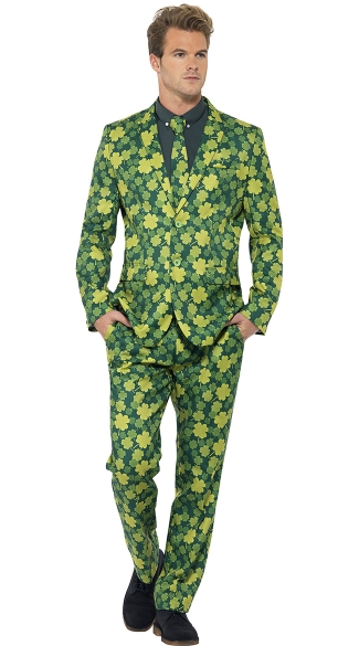 Men\'s Shamrock Suit, Men\'s St. Patrick\'s Day Costume, Leprechaun Costume