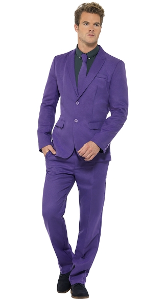 Men\'s Purple Costume Suit, Purple Suit
