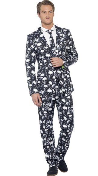 Men\'s Skeleton Suit Costume