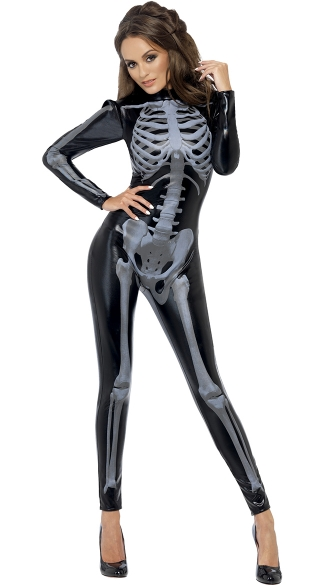 Sexy Bones Costume, Womens Skeleton Costume, Sexy Skeleton Costume