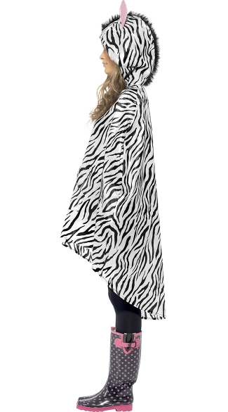 Zebra Party Poncho Costume