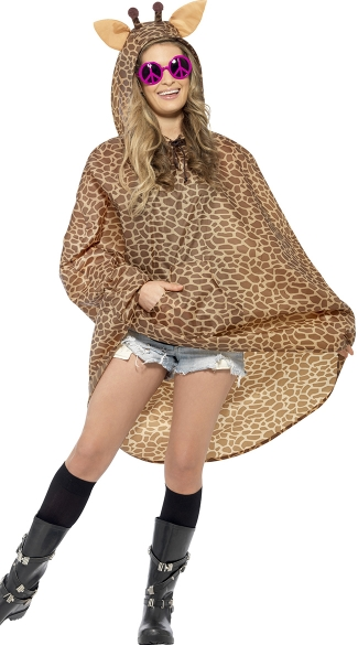 Giraffe Party Poncho Costume, Giraffe Costume, Animal Costume