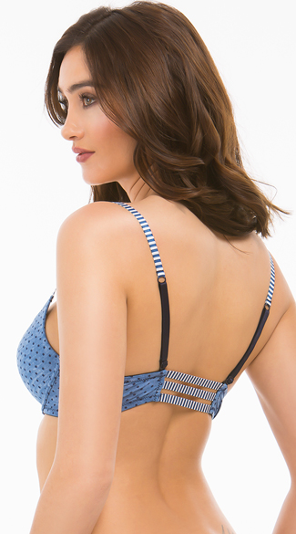 Spree Cotton Polka-Dot Bra