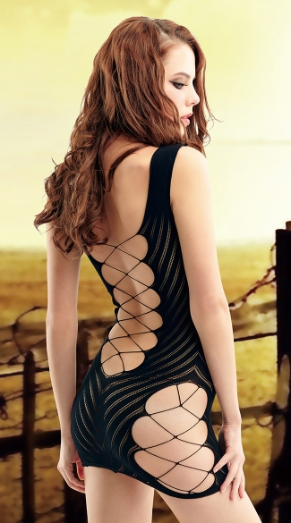 Interlace Fishnet Chemise