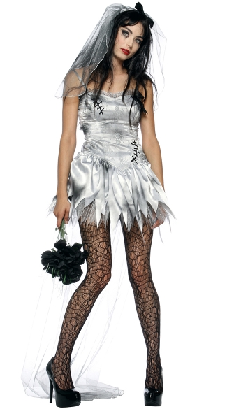 Til Death Do Us Part Zombie Bride Costume, Zombie Corps Bride, Halloween Costumes Zombie Bride