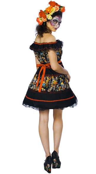 Plus Size Fiesta Of The Dead Costume