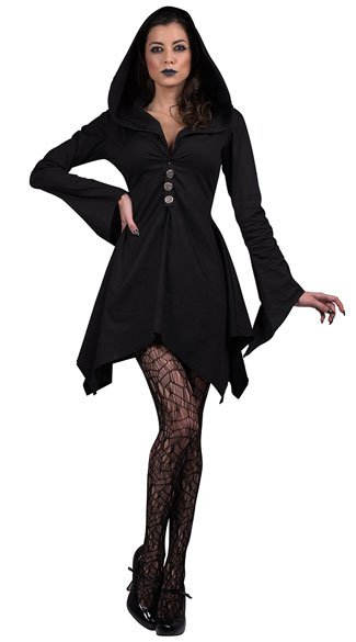 Salem Witch Costume, Witch Robe Costume, Witch Dress Costume