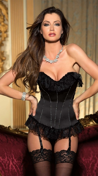 Lace and Rhinestones Corset