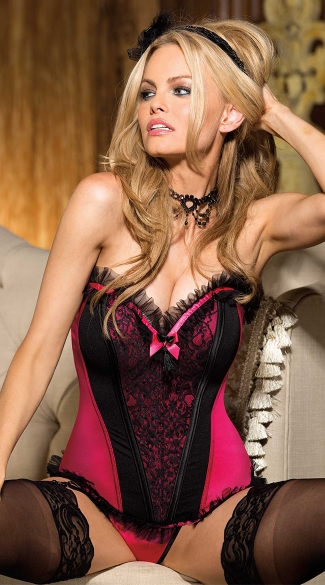 Lace and Hot Pink Corset