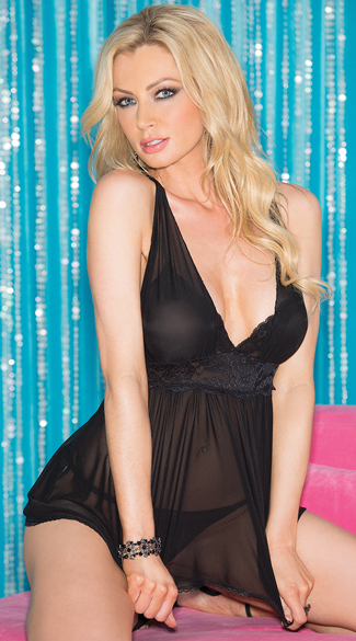 Flirty Mesh and Lace Babydoll
