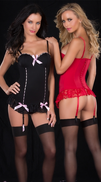 Corset Bustier and G-String Set