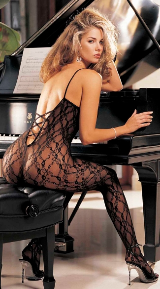 Cross Back Lace Bodystocking