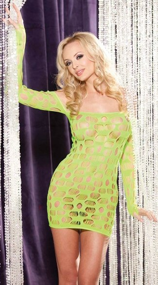 Open Hole Net Dress